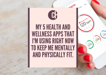My five health and wellness apps that I'm using right now to keep me mentally and physically fit.